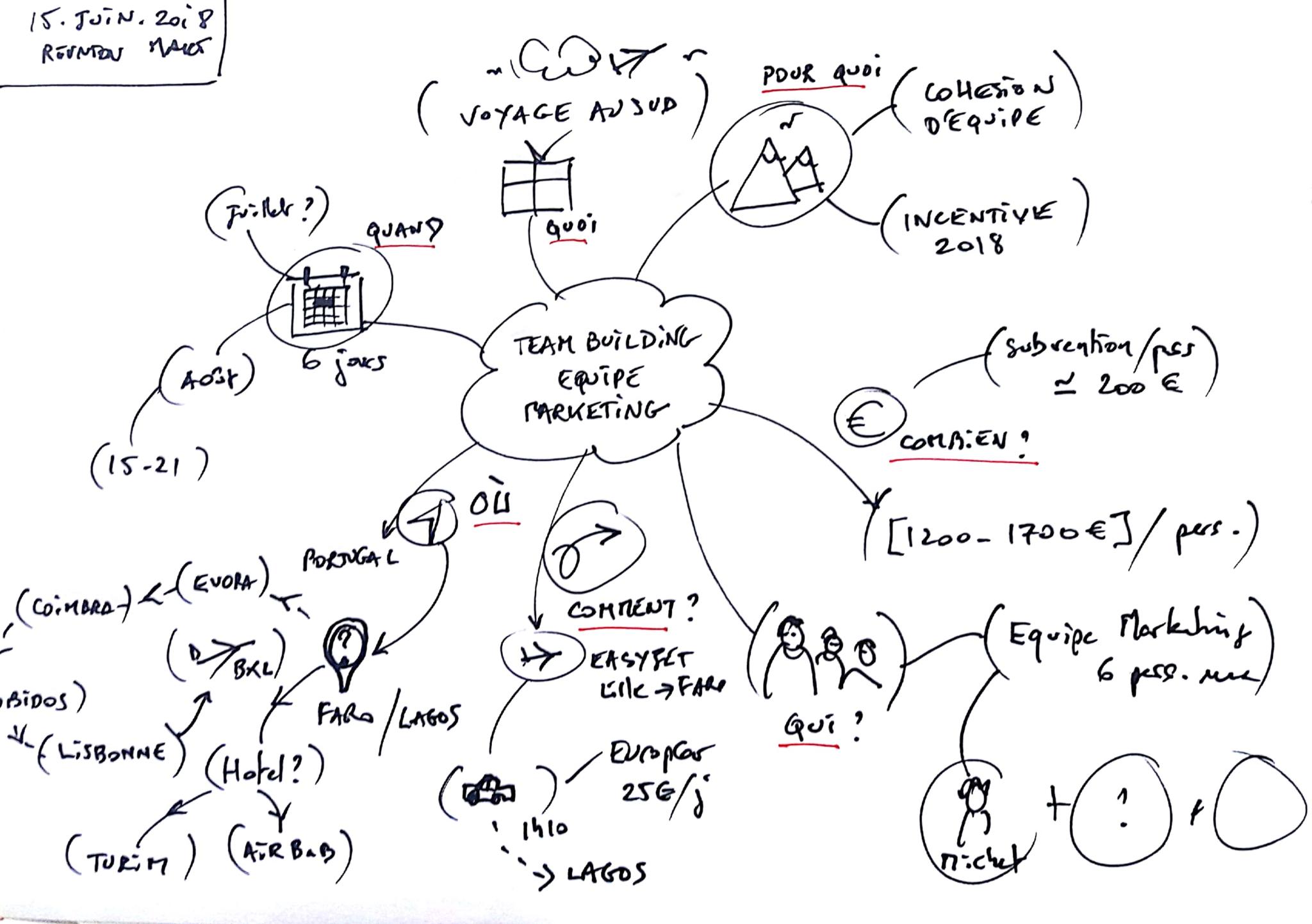 facilitation graphique coaching d'équipe